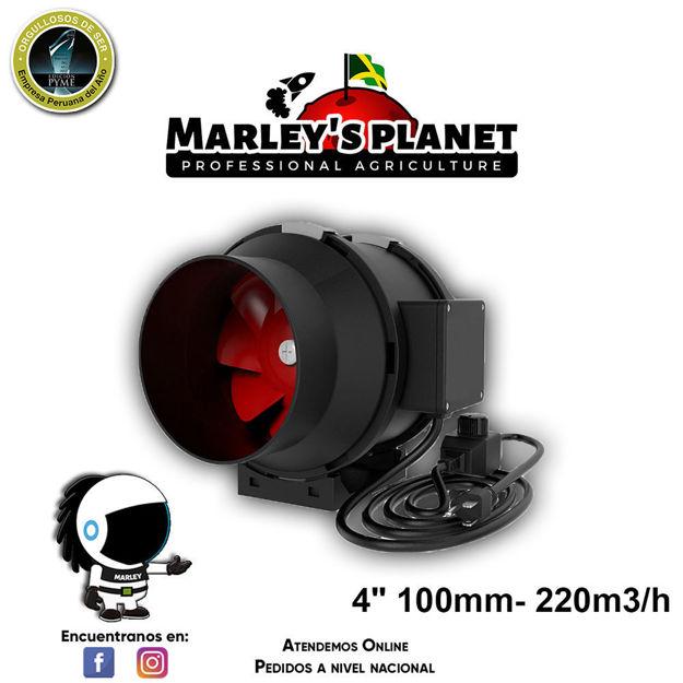 """Imagen de Extractor De 4"""" 100mm- 220m3/h inline"""