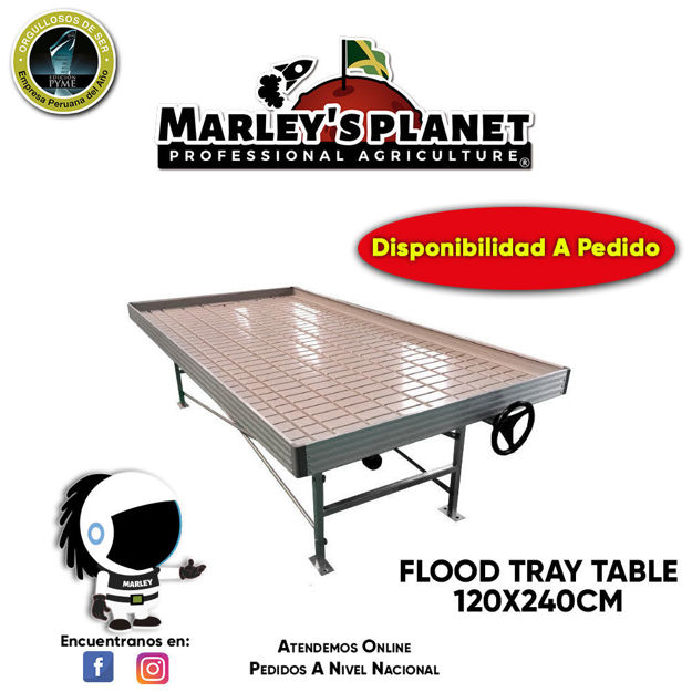 Imagen de FLOOD TRAY TABLE 120cmX240cm / Rolling Bench